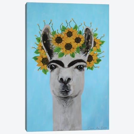 Frida Kahlo Llama Blue Canvas Print #COC355} by Coco de Paris Canvas Print