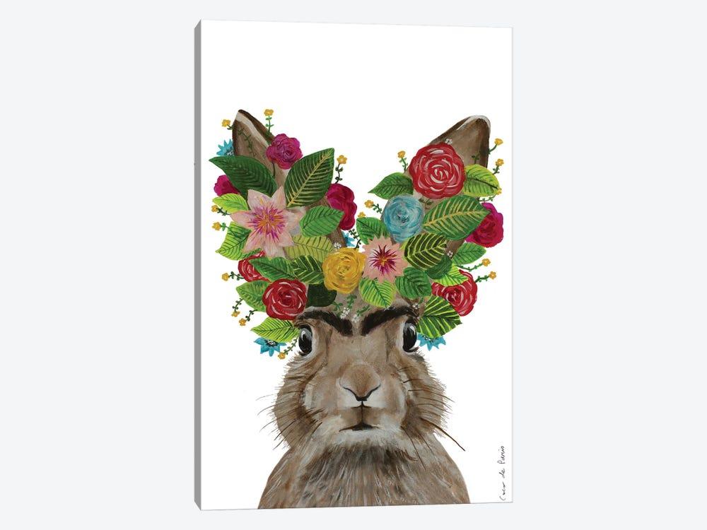 Frida Kahlo Rabbit White by Coco de Paris 1-piece Canvas Wall Art