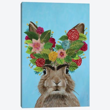 Frida Kahlo Rabbit Blue Canvas Print #COC357} by Coco de Paris Art Print