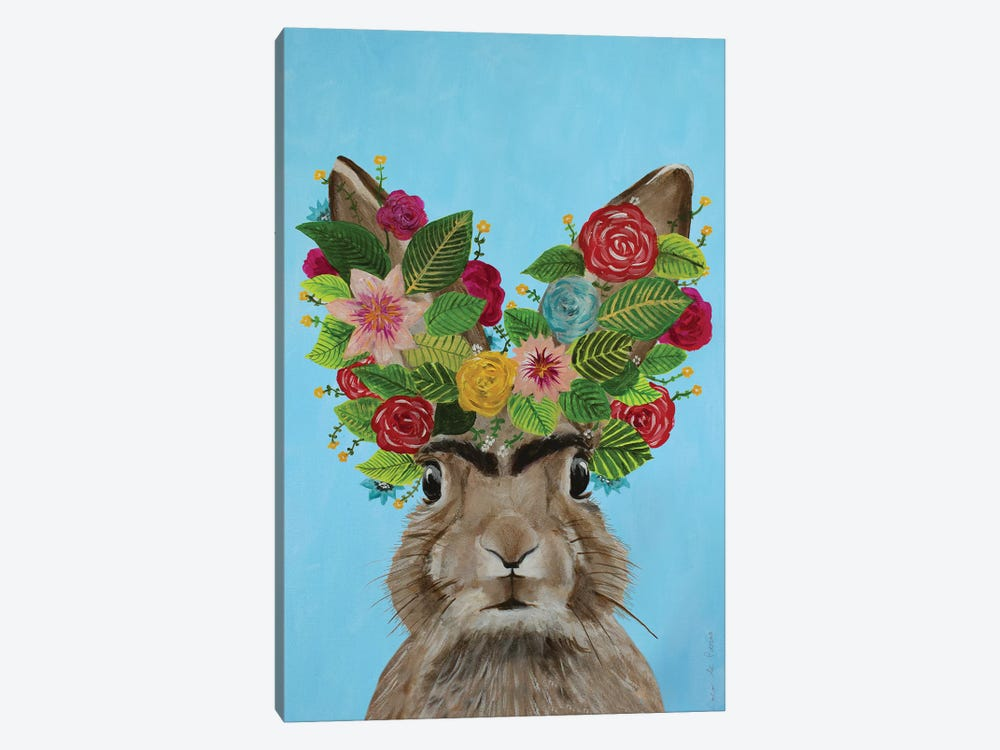 Frida Kahlo Rabbit Blue by Coco de Paris 1-piece Art Print