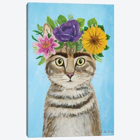 Frida Kahlo Cat Blue Canvas Print #COC359} by Coco de Paris Canvas Art