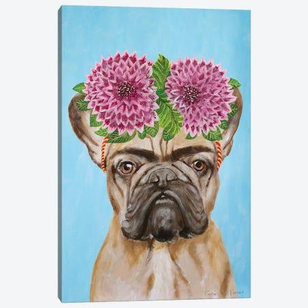 Frida Kahlo Frenchie Blue Canvas Print #COC364} by Coco de Paris Canvas Wall Art