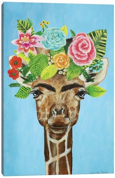 Frida Kahlo Giraffe Blue Canvas Art Print