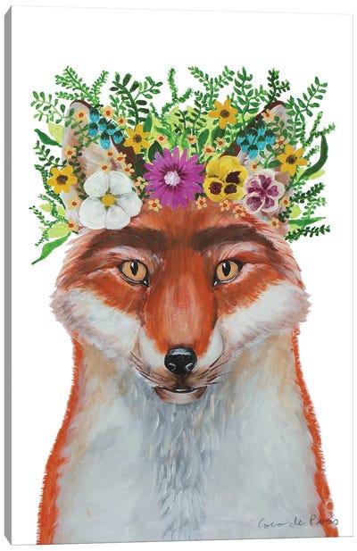 Frida Kahlo Fox White Canvas Art Print