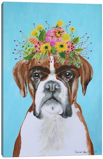 Frida Kahlo Boxer Blue Canvas Art Print
