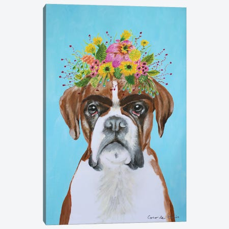Frida Kahlo Boxer Blue Canvas Print #COC376} by Coco de Paris Canvas Art Print