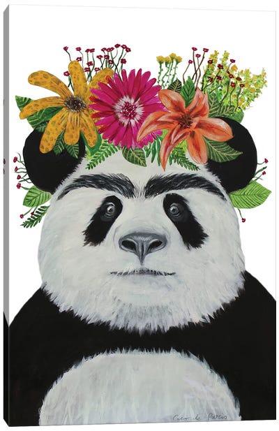 Frida Kahlo Panda White Canvas Art Print