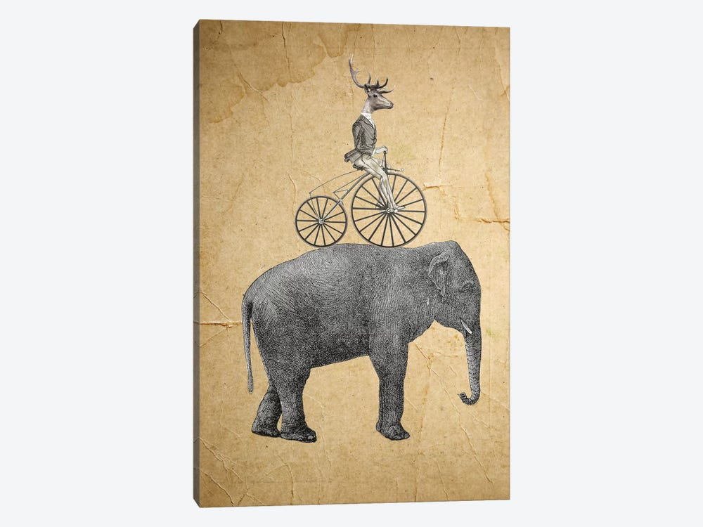 Elephant With Deer by Coco de Paris 1-piece Canvas Wall Art