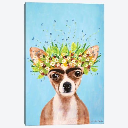 Frida Kahlo Chihuahua Blue Canvas Print #COC384} by Coco de Paris Canvas Art
