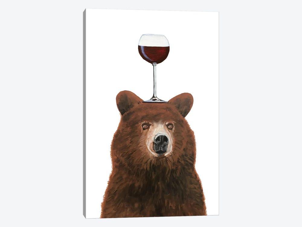 Bear With Wineglass by Coco de Paris 1-piece Canvas Artwork