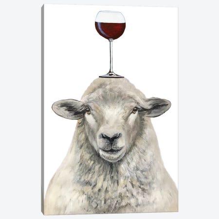 Sheep With Wineglass Canvas Print #COC389} by Coco de Paris Canvas Art Print