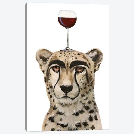 Cheetah With Wineglass Canvas Print #COC394} by Coco de Paris Canvas Print