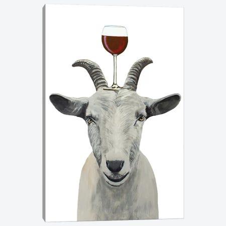 Goat With Wineglass 3-Piece Canvas #COC396} by Coco de Paris Canvas Print