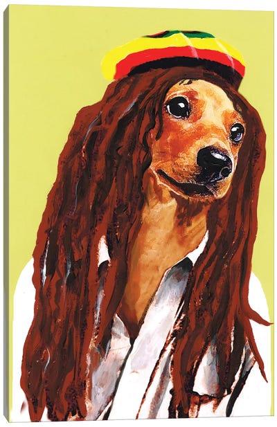 Bob Marley Dachshund Canvas Print #COC3