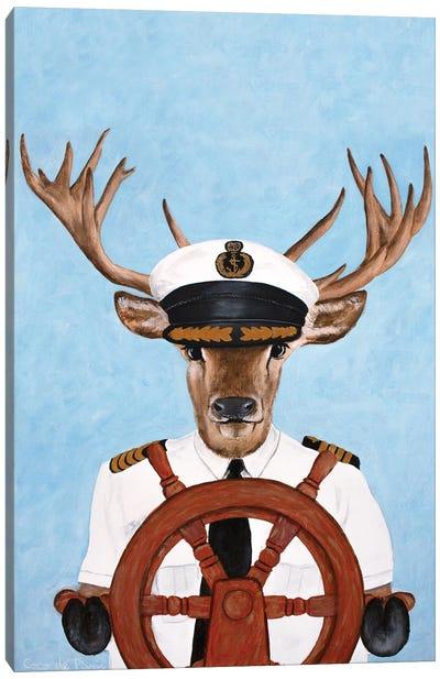 Captain Deer Canvas Art Print