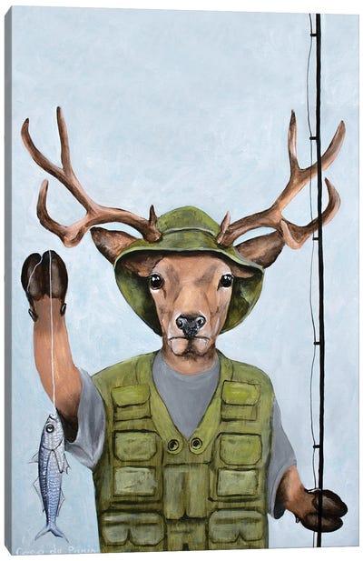 Fisherman Deer Canvas Art Print