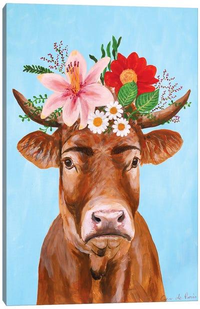 Frida Kahlo Cow Canvas Art Print