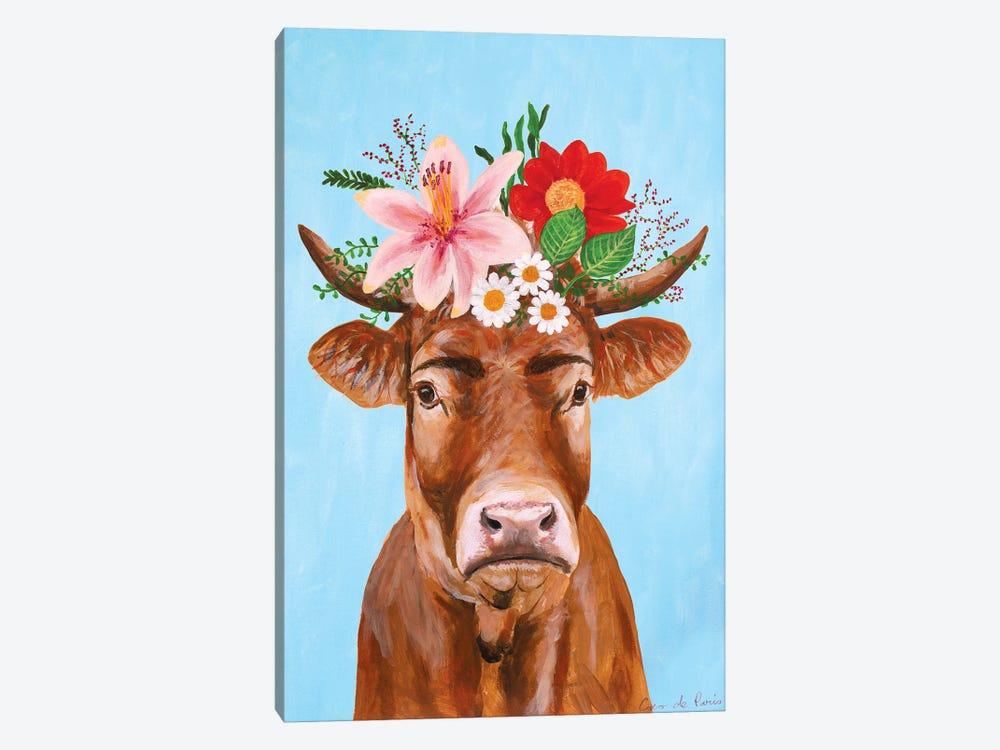 Frida Kahlo Cow by Coco de Paris 1-piece Canvas Artwork