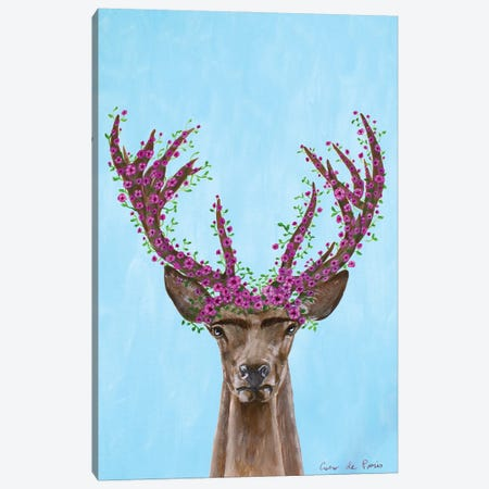 Frida Kahlo Deer Canvas Print #COC414} by Coco de Paris Canvas Artwork