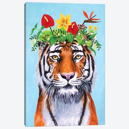 Frida Kahlo Tiger Canvas Print #COC415} by Coco de Paris Canvas Wall Art