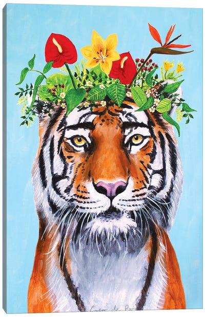Frida Kahlo Tiger Canvas Art Print