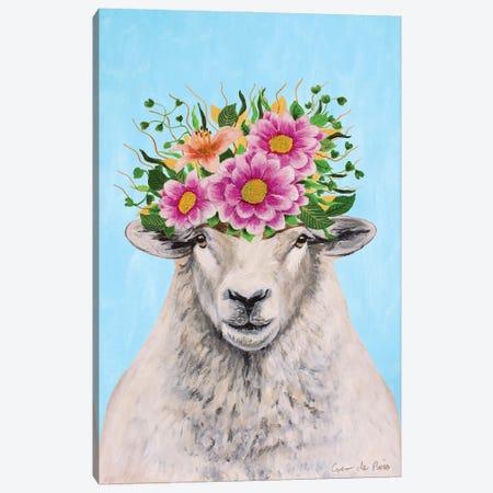 Frida Kahlo Sheep Canvas Print #COC416} by Coco de Paris Canvas Art
