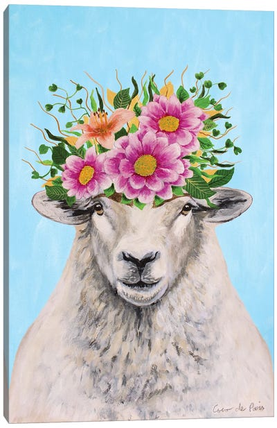 Frida Kahlo Sheep Canvas Art Print