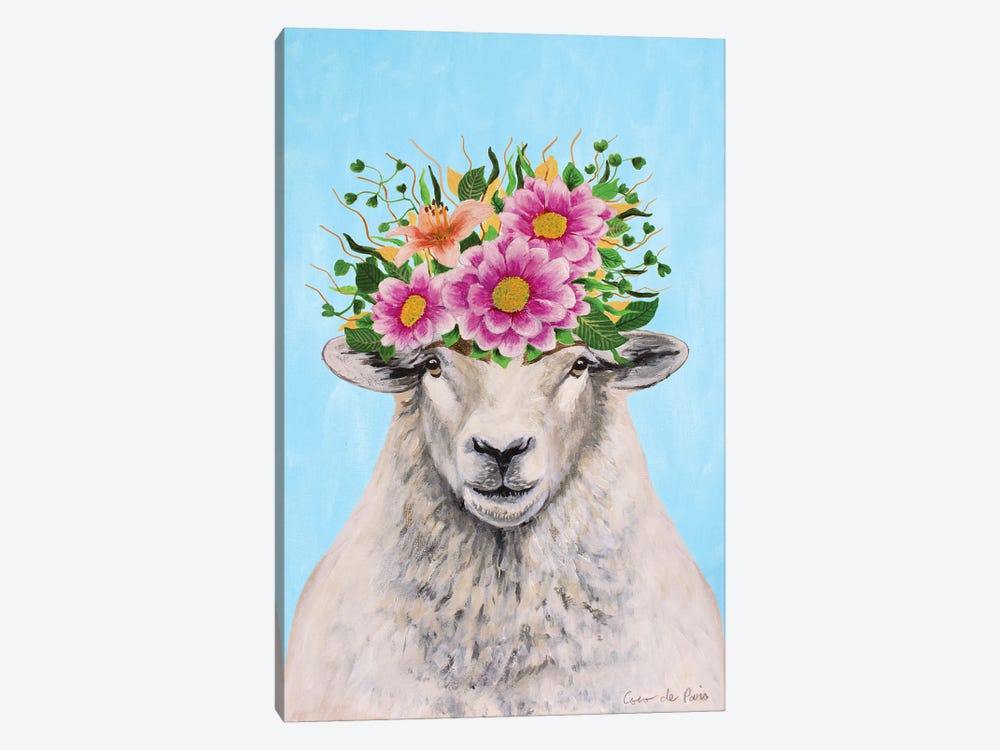 Frida Kahlo Sheep by Coco de Paris 1-piece Art Print