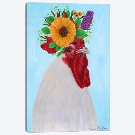 Frida Kahlo black Rooster Canvas Print #COC417} by Coco de Paris Canvas Wall Art