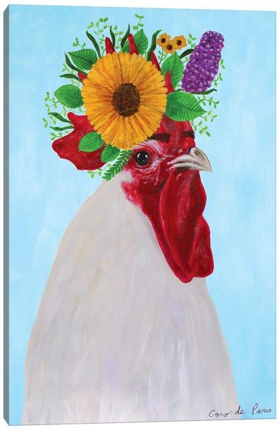 Frida Kahlo black Rooster Canvas Art Print