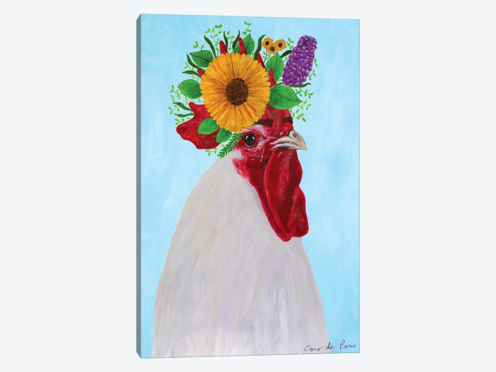 Frida Kahlo black Rooster by Coco de Paris 1-piece Canvas Art