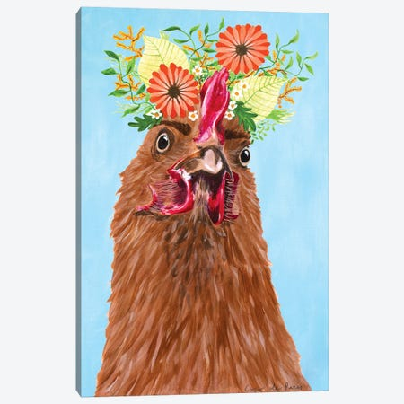 Frida Kahlo Hen Canvas Print #COC420} by Coco de Paris Canvas Wall Art