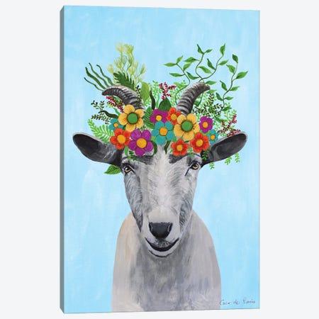 Frida Kahlo Goat Canvas Print #COC421} by Coco de Paris Canvas Wall Art