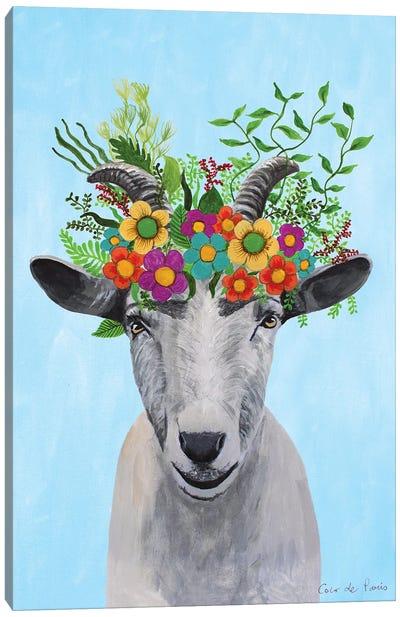 Frida Kahlo Goat Canvas Art Print