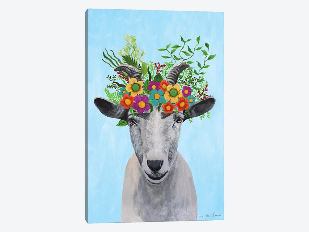 Frida Kahlo Goat by Coco de Paris 1-piece Canvas Print