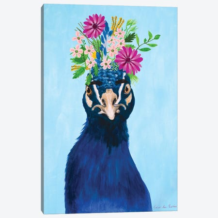 Frida Kahlo Peacock Canvas Print #COC422} by Coco de Paris Canvas Wall Art