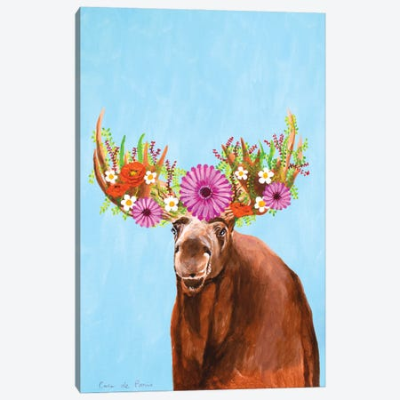 Frida Kahlo Moose Canvas Print #COC424} by Coco de Paris Canvas Art Print