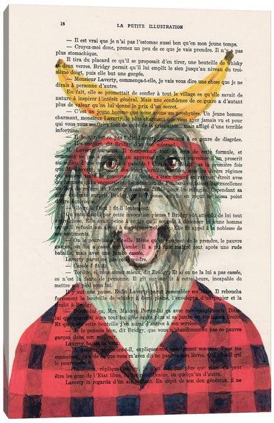 Shepherd Dog With Banana II Canvas Art Print