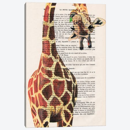 Giraffe Upside Down II Canvas Print #COC432} by Coco de Paris Canvas Art Print