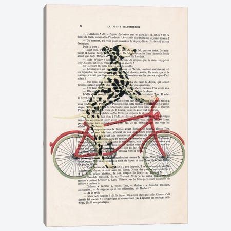 Dalmatian Cycling Canvas Print #COC433} by Coco de Paris Art Print