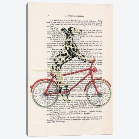 Dalmatian Cycling Canvas Print #COC433} by Coco de Paris Art Print