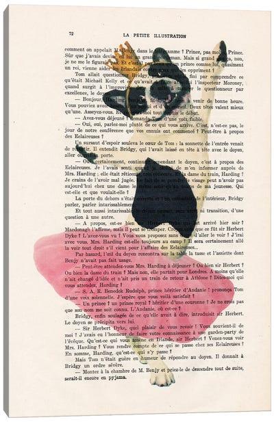 French Bulldog Dancing Canvas Art Print