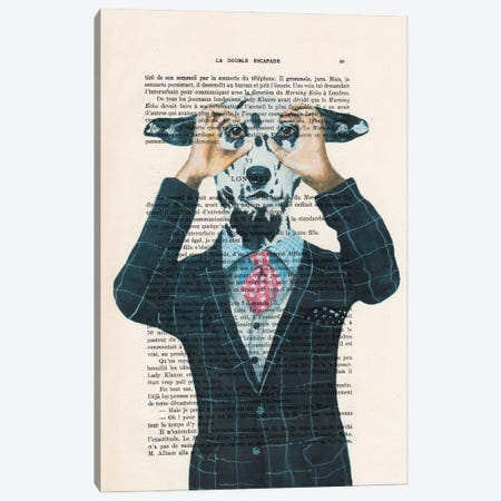Dalmatian Is Watching You ! Canvas Print #COC435} by Coco de Paris Canvas Wall Art