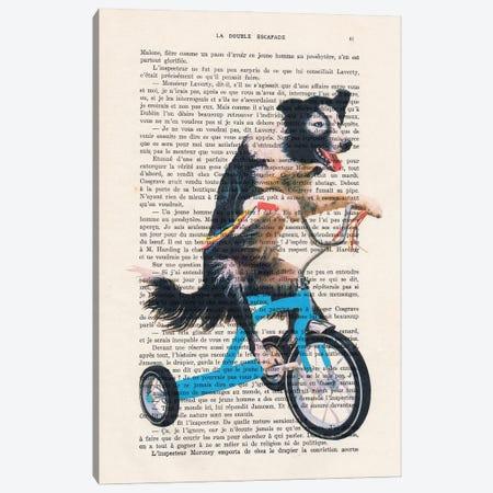 Doggy On Bicycle Canvas Print #COC436} by Coco de Paris Canvas Art