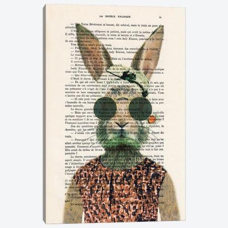 Vintage Rabbit Canvas Print #COC439} by Coco de Paris Canvas Art Print