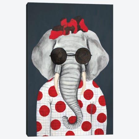 Vintage Elephant Woman Canvas Print #COC446} by Coco de Paris Canvas Art Print
