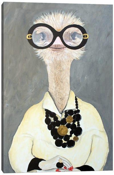 Iris Apfel Ostrich Canvas Art Print