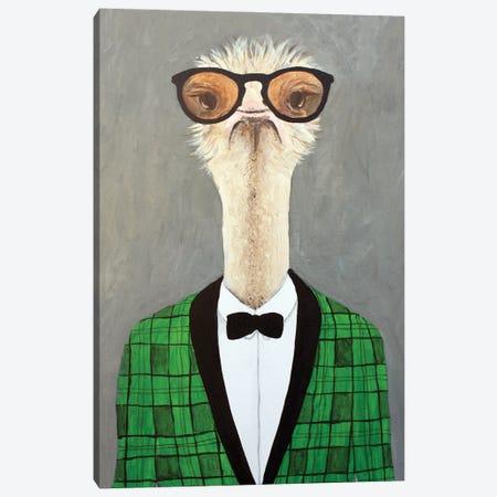 Vintage Ostrich Canvas Print #COC448} by Coco de Paris Canvas Artwork