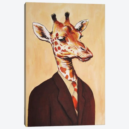 Giraffe Gentleman Canvas Print #COC44} by Coco de Paris Canvas Print