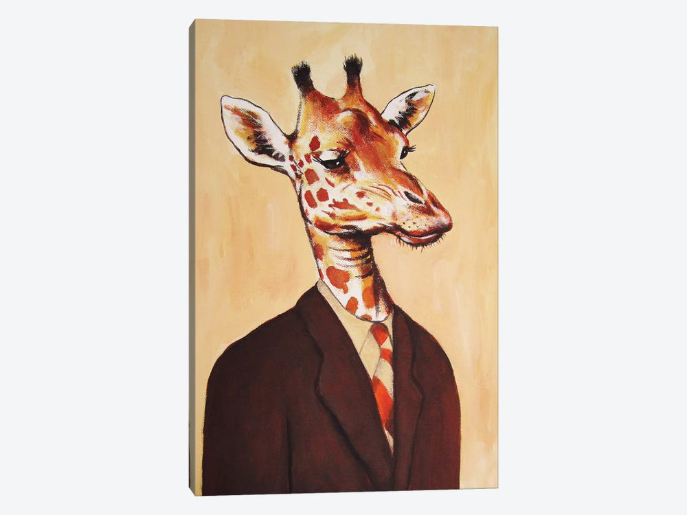 Giraffe Gentleman by Coco de Paris 1-piece Canvas Wall Art